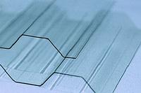 Профільний полікарбонат (прозорий шифер) Suntuf (1,26х3м) прозорий / Профилированный поликарбонат (шифер).