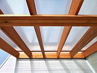 Стільниковий полікарбонат POLYGAL прозорий 6000х2100х4 мм / Сотовий поликарбонат ПОЛИГАЛЬ прозрачный.