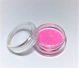Блискітки для нігтів в баночці, колір рожевий, фото 2