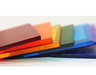 Полікарбонат монолітний, Policam, кольоровий 3050х2050х2 мм / Монолитный поликарбонат, Поликам, цветной.