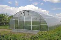 Теплиця фермерська під полікарбонат 10х20х4,5 м / Каркас теплицы фермерской под поликарбонат 10х20х4,5 м.