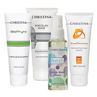 Уход — восcтановление для повреждённой кожи (4 продукта) Christina