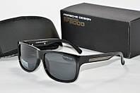 Солнцезащитные очки прямоугольные Porsche Design черные , фото 1