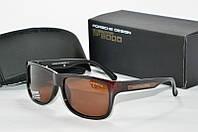 Солнцезащитные очки прямоугольные Porsche Design коричневые, фото 1