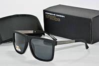 Солнцезащитные очки квадратные Porsche Design черные матовые