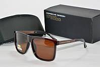 Солнцезащитные очки квадратные Porsche Design коричневые