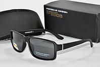 Солнцезащитные очки прямоугольные Porsche Design черные матовые