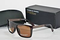 Солнцезащитные очки прямоугольные Porsche Design коричневые