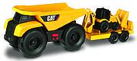Игрушечные машинки и техника «Toy State» (34763) минитрейлер Самосвал и прицеп с  двуковшовым экскаватором САТ, 28 см (свето-звуковые эффекты)