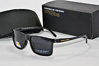 Солнцезащитные очки прямоугольные Porsche Design черные, фото 1