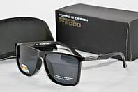 Солнцезащитные очки прямоугольные Porsche Design черные