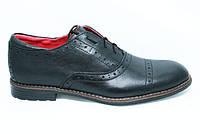 Туфли мужские замшевые черные TOP-HOLE (топ-хол)