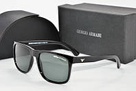 Солнцезащитные очки прямоугольные Armani черные, фото 1