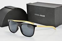 Солнцезащитные очки Armani черные с золотом