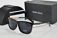 Солнцезащитные очки квадратные Armani черные