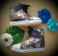 Сникерсы ботинки ЦВЕТЫ BLACK