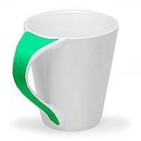 Чашка Симона с цветной ручкой 300 мл, зеленая, от 10 шт
