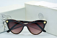 Солнцезащитные очки Versace коричневые с бежевым