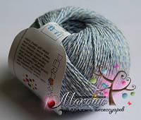 Пряжа Wooly Cotton Шерсть с хлопком, № 85, голубой