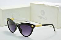 Солнцезащитные очки Versace черные с белым