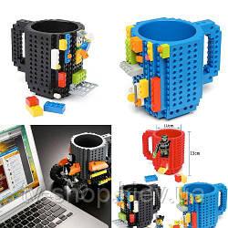 Чашка з конструктором Lego (рожева)