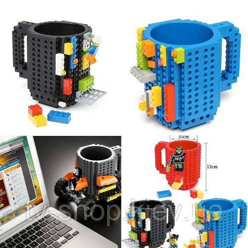 Чашка конструктор Lego (зеленый)