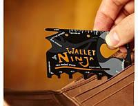 Мульти-кредитка (мультитул) Ninja Wallet 18 в 1