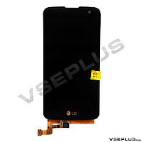 Дисплей (экран) LG K120E K4 LTE / K121 K4 LTE / K130E K4 LTE, черный, с сенсорным стеклом