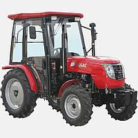 Трактор DW404AC (4 цил, 2 гидровыхода, компрессор, сиденье на пружине, доп. грузы, 7,50-16/11,2-24, каб.)