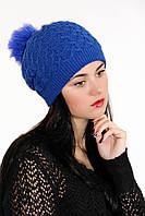 Женская шапка «Odis» с меховым помпоном