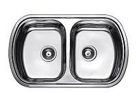 Fabiano Мойка кухонная стальная Fabiano 800*490 микродекор