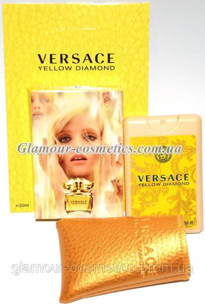 Пробники духов 20 мл в кожаных чехлах VERSACE Yellow Diamond - Glamour-  Cosmetics в Киеве 006bd94a949bf