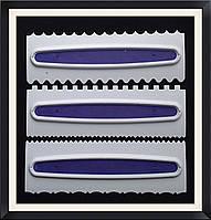 Набор скребков для мастики 3 шт ( пластик)