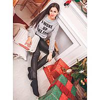 Свитшот женский трикотажный серый 0222 серый