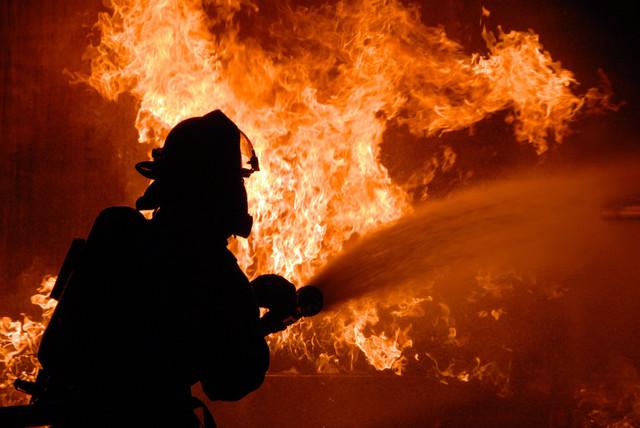 В Полтавской области едва удалось спасти от пожара ферму