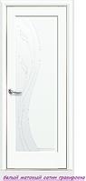 """Дверное полотно ''De Luxe'' """"Эскада"""" стекло гравировка"""
