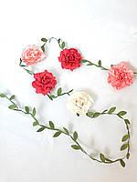 Украшение для волос, лента с цветами в прическу