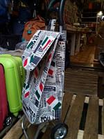 Тележка хозяйственная с сумкой на металлических колесах