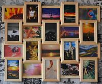 Фоторамка коллаж, на 20 фото, цвет дерево бежевое, фото 1