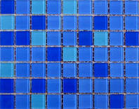 Мозаика, стеклянная, UR-05, голубая лагуна
