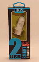Автомобильная зарядка MicroUSB кабель+прикурка 2USB 2+1A RDX111