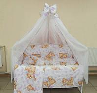 Красивый балдахин для детской кроватки. Шифон