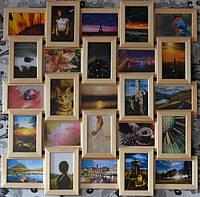 Рамка коллаж из дерева на 25 фото бежевый цвет, фото 1