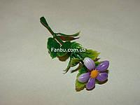 Добавка-цветок к искусственным букетам - маргаритка фиолетовая  (h-9см)