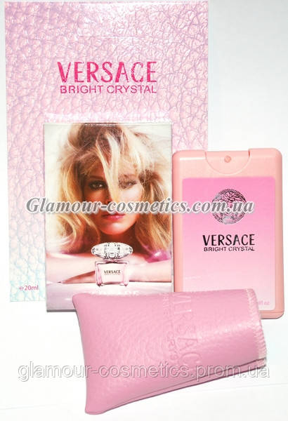 Пробники духов 20 мл в кожаных чехлах VERSACE Bright Crystal - Glamour-  Cosmetics в Киеве 5510c223b743d