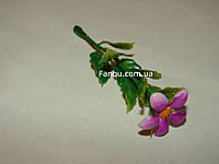 Добавка-цветок к искусственным букетам - маргаритка сиреневая  (h-9см)
