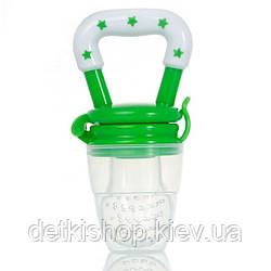 Ниблер силиконовый с защитным колпачком (зелёный)