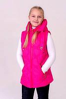 Детская Куртка- жилетка на девочку весна-осень (трансформер)  4 цвета -  от 6-10лет