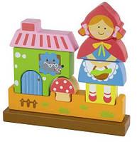 """Магнитный деревянный 3-D пазл """"Красная Шапочка"""" Viga Toys """"Красная Шапочка""""  (50075)"""