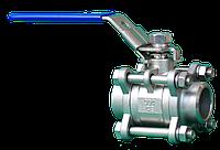 Кран шаровый нержавеющий AISI304 под приварку тип BBW-3F  Dn40 Pn64